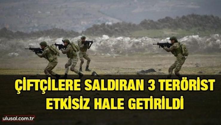 Çiftçilere saldıran PKK/YPG'li 3 terörist etkisiz hale getirildi