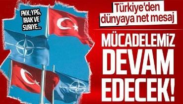 """Dışişleri Bakanı Mevlüt Çavuşoğlu'ndan NATO toplantısında dünyaya net mesaj: """"Mücadelemiz devam edecek"""""""