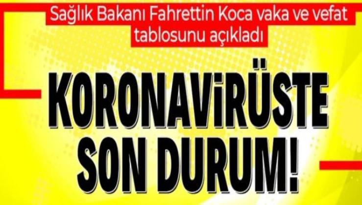 Sağlık Bakanlığı koronavirüs vaka ve vefat sayılarını duyurdu   30 Aralık günlük koronavirüs tablosu