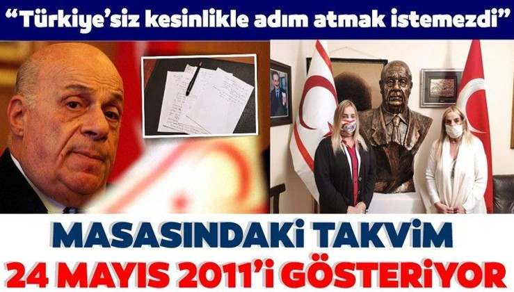 Çocukları vefatının 9. yılında Rauf Denktaş'ı anlattı! Masasındaki takvim 24 Mayıs 2011'i gösteriyor...
