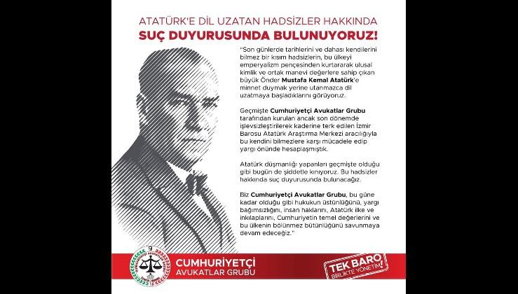 Cumhuriyetçi Avukatlar Atatürk'e saldırıya karşı harekete geçti