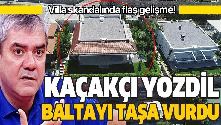 Sözcü gazetesi yazarı Yılmaz Özdil'in kaçak villası hakkında flaş gelişme! Suç duyurusunda bulunuldu!