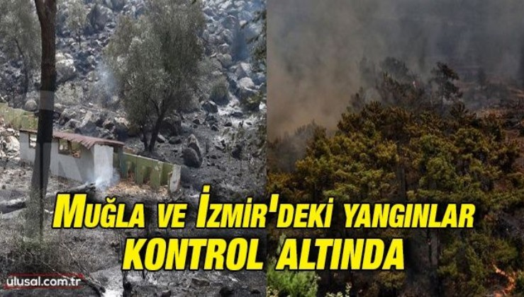 Muğla Köyceğiz ve İzmir Menderes ile Urla'daki yangınlar kontrol altına alındı