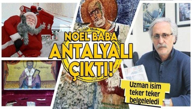 MYRA Antik Kenti Kazı Başkanı Prof. Dr. Nevzat Çevik 'Noel Baba'nın Antalyalı olduğunu söyledi