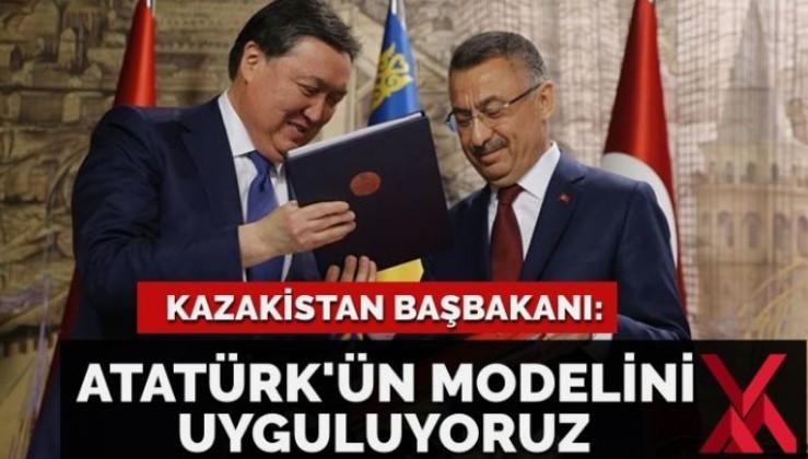 Kazakistan Başbakanı: 'Atatürk'ün ekonomik modelini uyguluyoruz!'