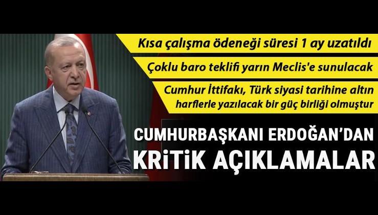 Erdoğan: Çoklu baro teklifi yarın Meclis'te