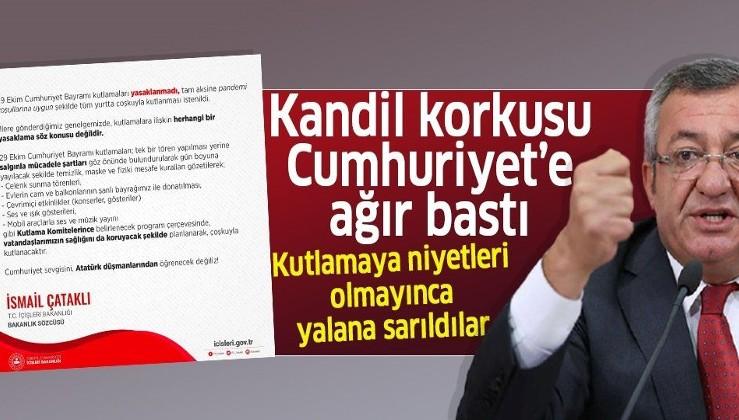"""YCHP'nin Cumhuriyet Bayramı'nı kutlamaya niyeti yok! """"Kutlamalar yasaklandı"""" yalanına sarıldılar"""