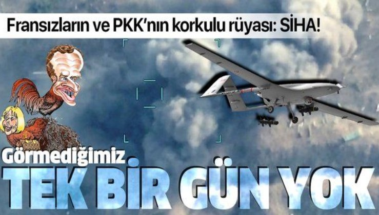 Fransızların ve PKK'lıların korkulu rüyası SİHA: Görmediğimiz tek bir gün yok!