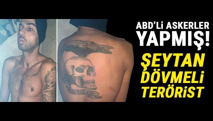 ABD'li askerler yapmış! Şeytan dövmeli terörist yakalandı...