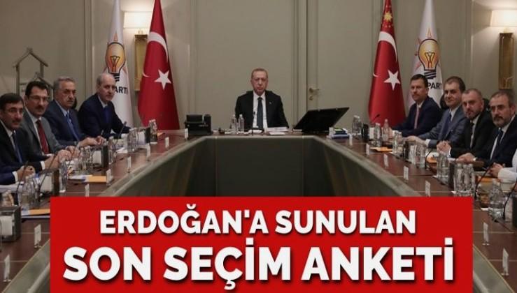 Erdoğan'a sunulan son seçim anketi ne diyor?