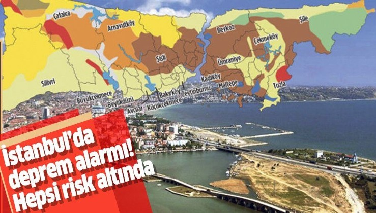 Uzmanlardan deprem uyarısı! İşte İstanbul'da olası bir depremde risk altında olan bölgeler
