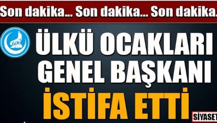 Ülkü Ocakları Genel Başkanı Sinan Ateş istifa etti,işte nedeni!