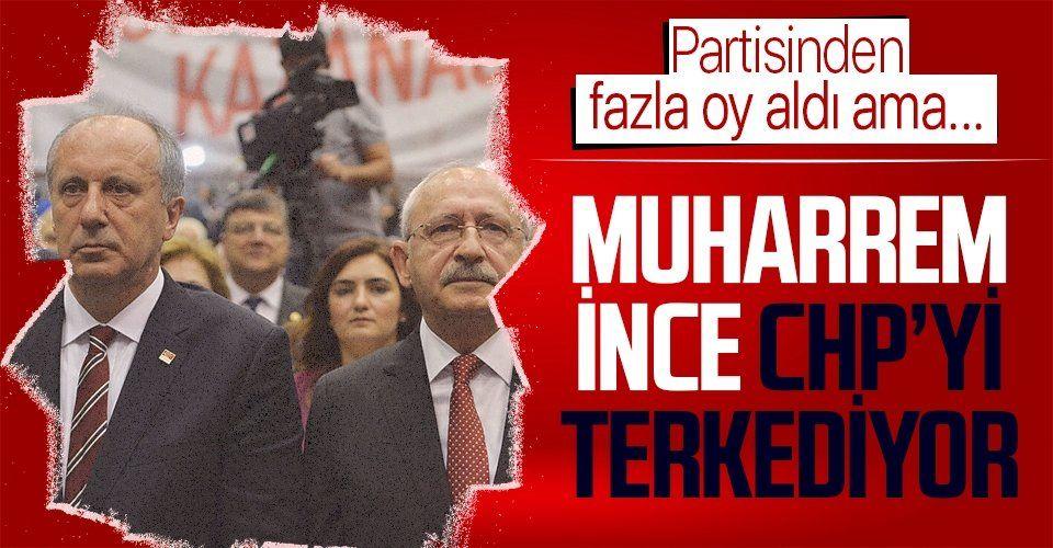 Partisinden fazla oy alan Muharrem İnce, HDP ile iş birliği yapan CHP'den yarın istifa edecek