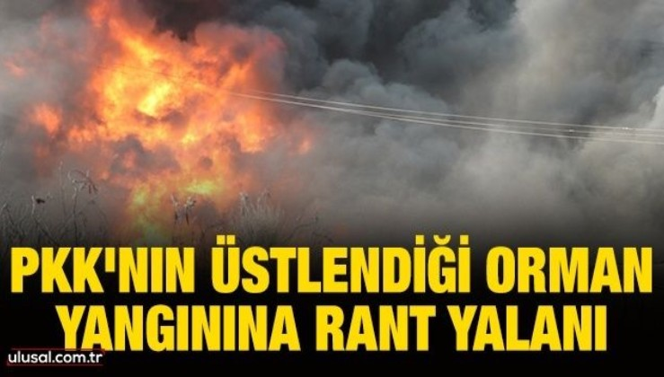 PKK'nın üstlendiği orman yangınına rant yalanı
