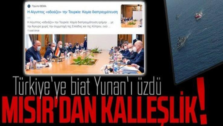 Yunan basını, Mısır'ın Türkiye'nin Doğu Akdeniz'deki egemenlik hakkına saygı göstermesini sert şekilde eleştirdi: Kalleşlik