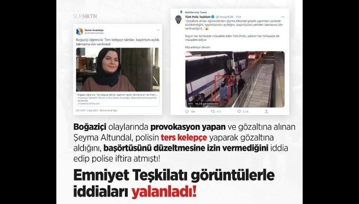 Boğaziçi Üniversitesi'ndeki eylemlerde gözaltına alınan kadının yalanları