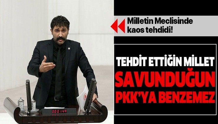 HDPsever Barış Atay'dan tehdit!