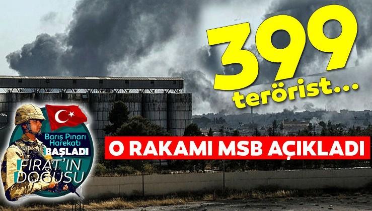 Barış Pınarı Harekatı kapsamında etkisiz hale getirilen terörist sayısı 399 oldu