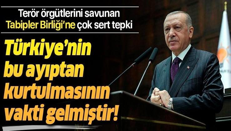 Erdoğan: ''Terör örgütlerinin sivil toplum kuruluşlarına el koyması hadisesidir''
