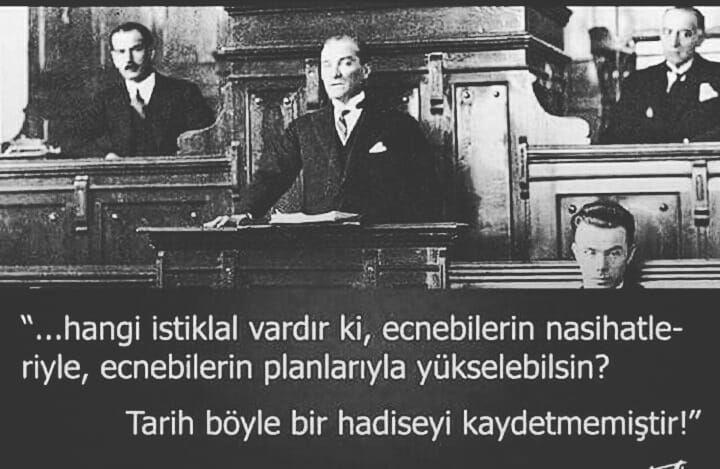 Gazi Mustafa Kemal Atatürk'ün İstiklal (Bağımsızlık) üzerine özdeyişleri
