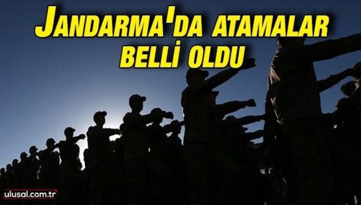 Jandarma'da atamalar belli oldu