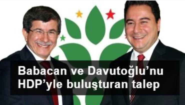 Babacan ve Davutoğlu'nu HDP'yle buluşturan talep