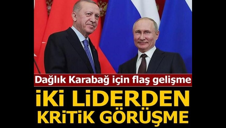 Son dakika... Cumhurbaşkanı Erdoğan ve Putin'den kritik görüşme