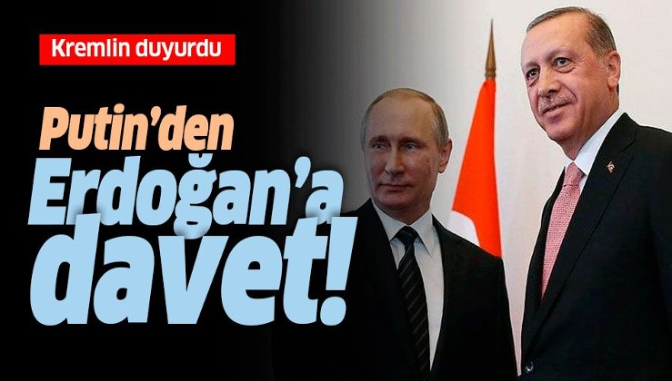 Son Dakika: Rusya lideri Putin, Erdoğan'ı Moskova'ya davet etti.