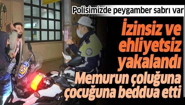"""Bursa'da polis kendisine """"Hakkım helal olmasın çoluğundan çocuğundan çıksın"""" diyen adama sabrı takdir topladı"""
