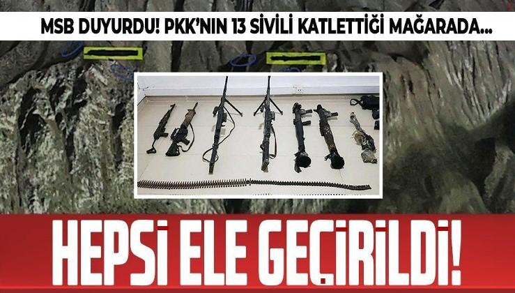 Gara'da PKK'nın 13 sivili katlettiği mağarada mühimmat ele geçirildi!