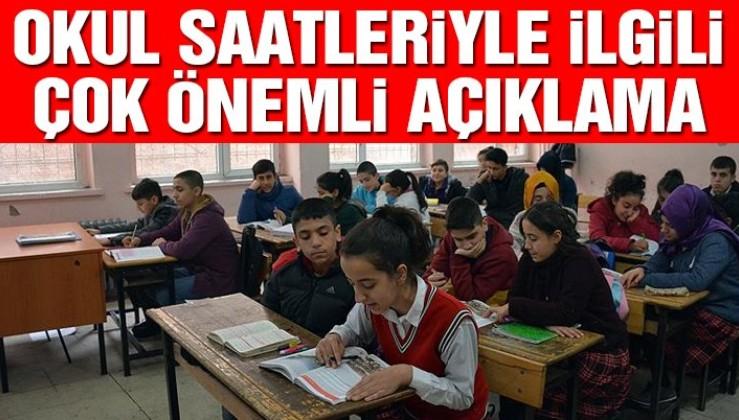 Bakan Dönmez'den okul saatleriyle ilgili çok önemli açıklama!