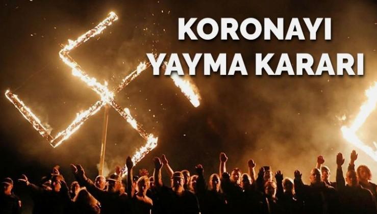 Neo Naziler müslümanlara koronavirüs bulaştırmak için harekete geçti