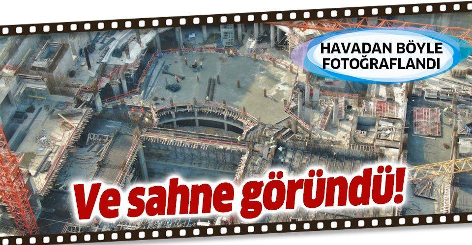 AKM'nin sahnesi göründü! Atatürk Kültür Merkezi'ndeki son durum drone ile havadan görüntülendi