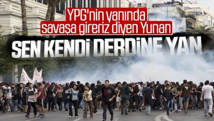 Yunanistan'da eğitim reformları protestosu