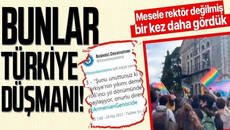 Boğaziçi Üniversitesi'deki eylemleri organize eden Boğaziçi Dayanışma sözde 'Ermeni soykırımı'na destek verdi!