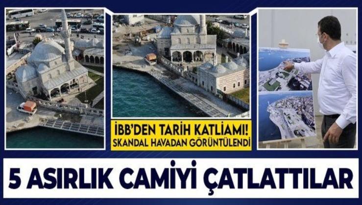 İBB'den tepki çeken çalışma: Mimar Sinan'ın 1580 yılında yaptığı Şemsi Paşa Camii duvarında çatlaklar oluştu!
