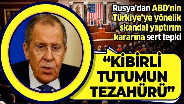 Rusya'dan Türkiye'ye karşı yaptırım kararı alan ABD'ye sert tepki