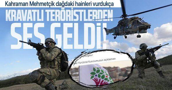 HDP TSK'nın PKK'ya yönelik operasyonlarından rahatsız oldu!