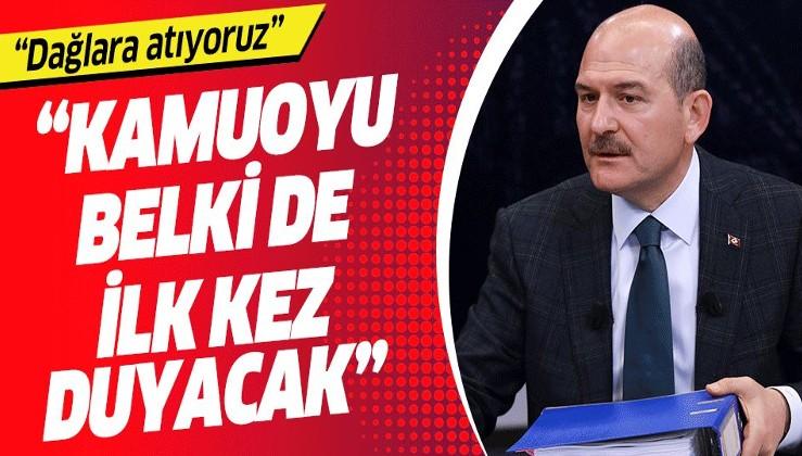 İçişleri Bakanı Süleyman Soylu 'Kamuoyu bunu belki de ilk defa duyacak' diyerek açıkladı!.