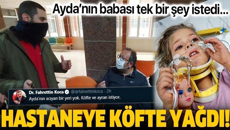 SON DAKİKA: 91 saat sonra kurtarılan Ayda'nın istediği köfte ve ayran hastaneye getirildi!