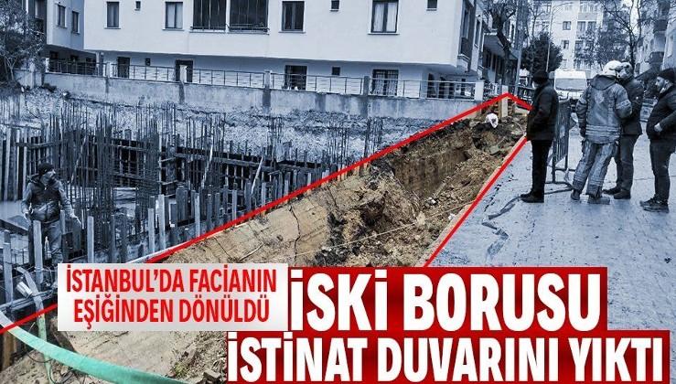 Son dakika: İstanbul Avcılar'da facianın eşiğinden dönüldü! İSKİ borusu patlayınca istinat duvarı çöktü
