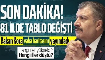 İllere göre haftalık vaka sayısı açıklandı! İstanbul, Ankara, İzmir ve diğer illerimiz ne durumda? Bakan Koca açıkladı...