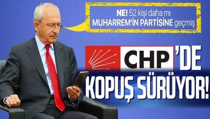 CHP'den kopuş sürüyor! Bir ilde daha parti örgütü istifa etti Muharrem İnce'nin partisine geçiyor