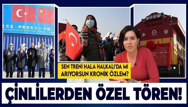 Çinlilerden Türkiye'den gelen ilk ihracat treni için tören!