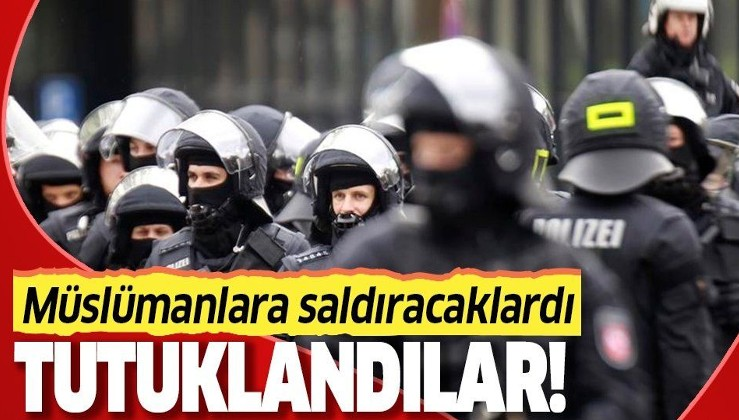 Müslümanlara saldıracaklardı! Tutuklandılar!.