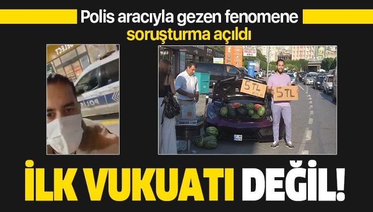 İstanbul Kağıthane'de polis aracıyla tur atan şahıs daha önce lüks araçta karpuz satan İranlı çıktı
