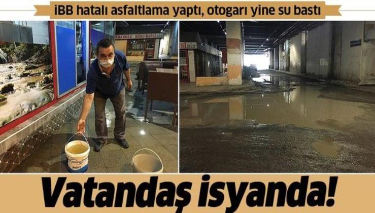 İBB hatalı asfaltlama yaptı, otogarı yine su bastı