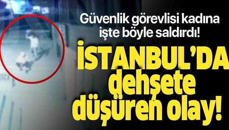Son dakika: İstanbul Küçükçekmece'de bir salgırgan güvenlik görevlisi kadının başına taşla vurdu