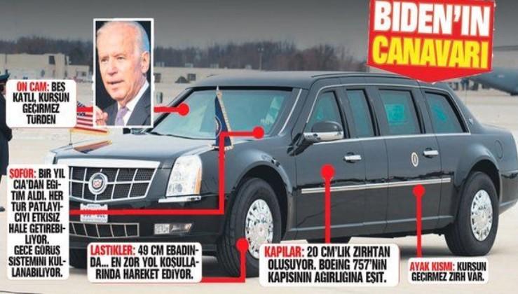 ABD'nin 46. Başkanı olan Joe Biden'ın makam aracı görenleri şaşırttı