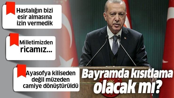 """Cumhurbaşkanı Erdoğan: """"Ayasofya'yı yeniden vakfiyesine uygun hale getirirken kültürel miras vasfını da ecdadın yaptığı gibi koruyacağız"""""""
